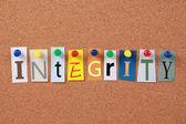 Integrity Single Word — Stock Photo