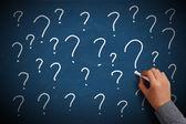Question Mark Chalkboard — Stock Photo
