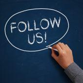 Follow Us! — Stock Photo