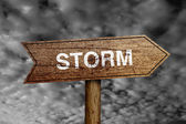Storm Road Sign — Stock Photo
