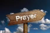Prayer Road Sign — Stock Photo