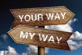 Your Way And My Way — Stock Photo
