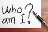 Who am I — Stock Photo
