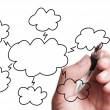 Drawing Cloud Computing Chart — Stock Photo #60125343