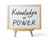 La conoscenza è potere — Foto Stock