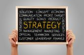 Strategy Word Cloud — Stock Photo