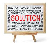 Solution Word Cloud — Foto de Stock