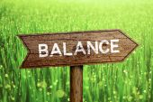 Balance roadsign — Stock Photo