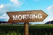 Morning roadsign — Stock fotografie