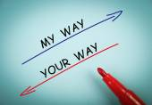 My way and your way — Stock Photo