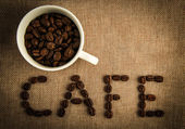 CAFE Coffee Beans — Stock Photo