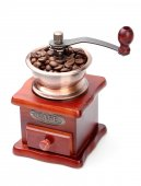 Fresh Coffee Bean And Coffee Bean Grinder — Stock Photo