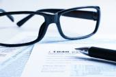 Tax form financial concept — Stock Photo