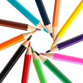 Color pencils circle isolated — Stock Photo