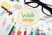 Понятие веб-дизайна — Стоковое фото