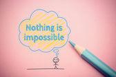 Nic nie jest niemożliwe — Zdjęcie stockowe