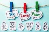 We love peace — Stock Photo