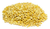 Pea grain on white background — 图库照片