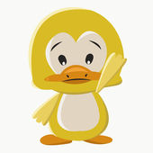 Canard bébé — Vecteur