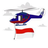Indonesian flag — Stock Vector