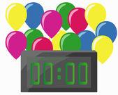 Happy new year baloon — Stock Vector