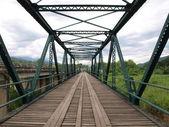 Historical bridge over the Pai river in Mae hong son, Thailand. — Stock Photo