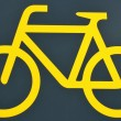 Yellow bike logo — Stock Photo #74814497