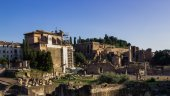 The ruins of the ancient city of Rome — Stock Photo