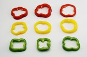 Set of slightly cut sweet pepper 2 — Stock Photo
