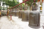 Lineup of monastic bell 1 — Stock Photo