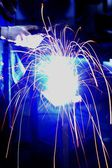 Sparking from welding process in blurly motion 1 — Stock Photo