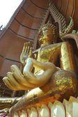 Giant golden image of Buddha — Stok fotoğraf