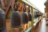 Line up of monastic bell — Stock Photo