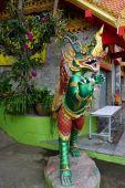 Thai green fine art statue — Stockfoto