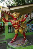 Thai red fine art statue — Stok fotoğraf