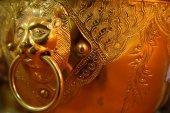 Golden lion bowl — Stock Photo