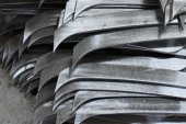 Abstract metal sharp — Stock Photo