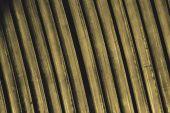 Line up yellow metal slat — Stock Photo