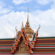 Roof of temple on blue sky background — Stock Photo #63987859