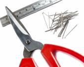Nail scissors ruler — Stockfoto