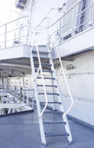 Stairway on battleship ship — Stock Photo