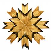 Christmas snowflake of matches, the star, match — Stock Photo