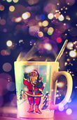 Christmas Mug, Santa Claus. — Stockfoto