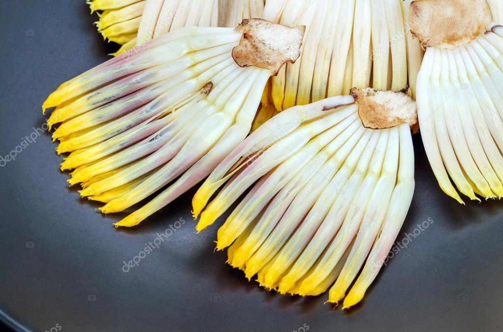 banane blume teil der bl te von der bananenstaude