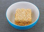 Instant Noodle precook in bowl — Stockfoto