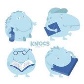 Cute character troll, hippo — Stock Vector