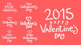Lettering day happy valentine for card — Vector de stock