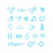 Sketches for logos or icons — Stock Vector