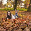 Woman portret in autumn leaf — Stock Photo #59223251