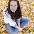 Woman portret in autumn leaf — Stock Photo #59223289